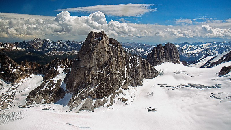 Bugaboos from an airplane, Summer