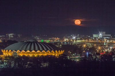 Moonrise over Morgantown, WV