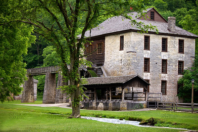 Gristmill Spring Mill State Park, Indiana, near Mitchell, Indiana.