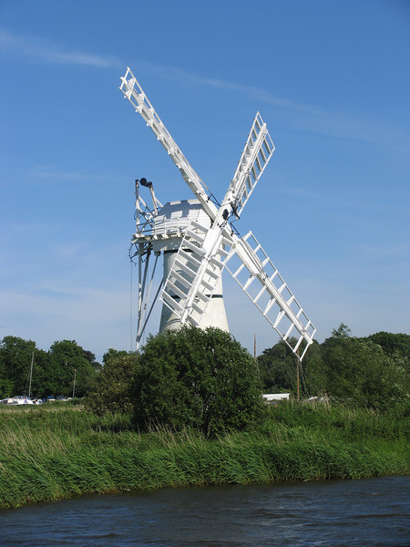 Thurne Mill on the Norfolk Broads.