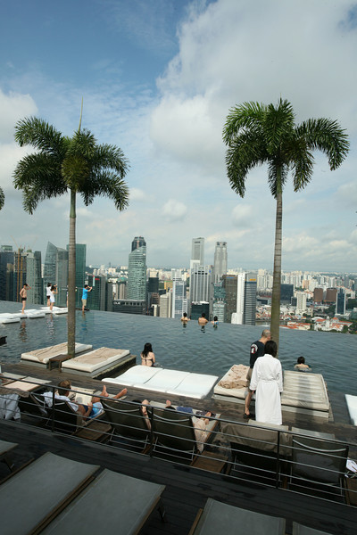Singapore Sands Skypark swimming pool.