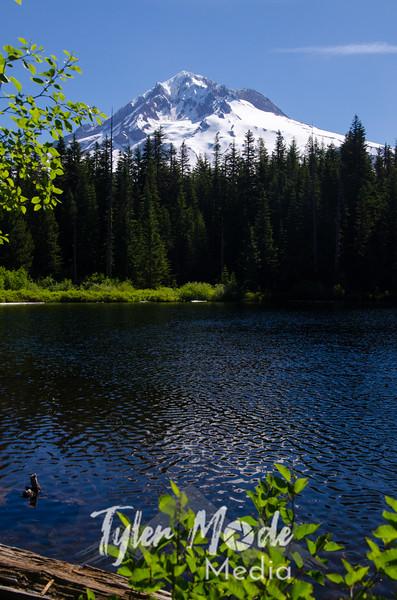 Burnt Lake and Mt. Hood