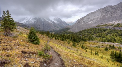 Burstall Pass, looking East into Kananaskis Country