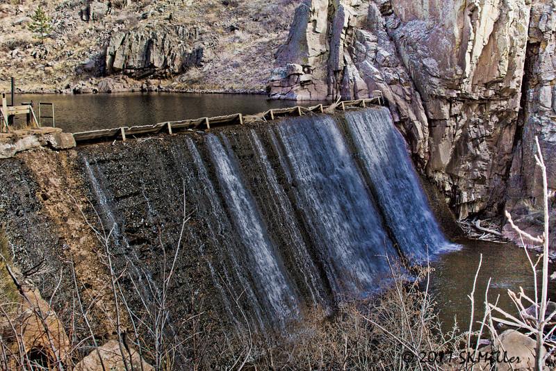 Original spillway for the Longmont reservior