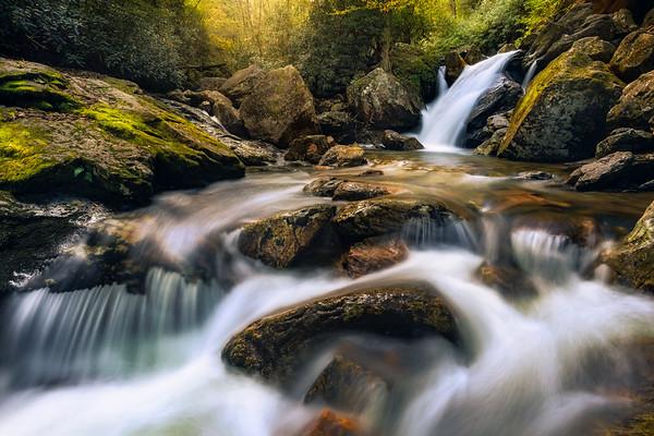 Skinny Dip Falls - Blue Ridge Parkway, North Carolina