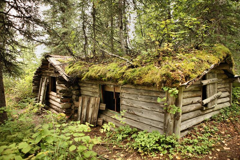 Fur trapper's cabin, built in 1959