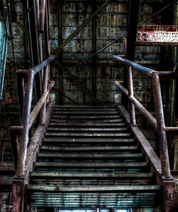Rusted Stairs to nowhere