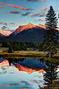 Ibex Peak Sunset Reflections near Bull Lake Montana