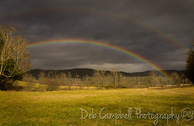 Double Rainbow Cades Cove Great Smoky Mountains