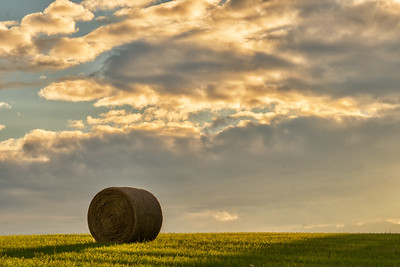 Hay Bale before Sunset