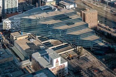 Calgary City Municipal Building, Calgary City Hall  (under construction renovation),new  Calgary Public Library