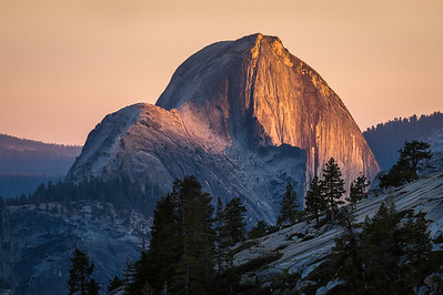 Half Dome at Sunset viewed from Olmsted Point, Yosemite National Park