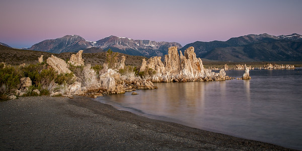Lithoid Tufa on Mono Lake at Sunrise, South Tufa Reserve, Mono Basin Scenic Area