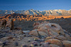 California, Eastern Sierra, Alabama Hills, Mount Whitney, Sunrise, Rocks, Landscape, 加利福尼亚, 惠特尼峰, 日出, 风景