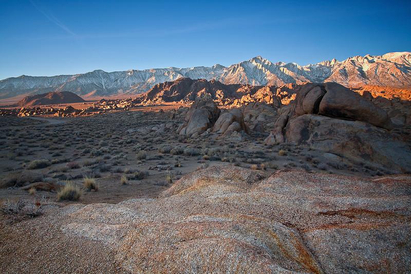 California, Eastern Sierra, Alabama Hills, Mount Whitney, Sunrise, Rocks, Landscape, 加利福尼亚, 惠特尼峰, 日出, 风景