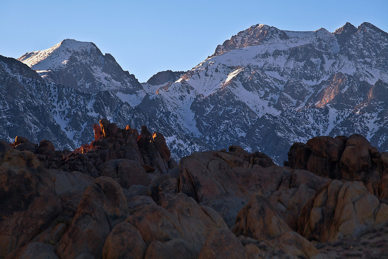California, Eastern Sierra, Alabama Hills, Mount Whitney, Sunset, Rocks, Landscape, 加利福尼亚, 惠特尼峰, 日落, 风景