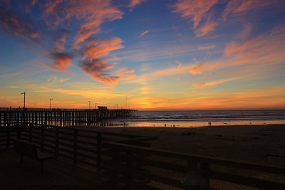 Sunset from downtown Pismo Beach, Calif. Dec 9, 2015.
