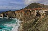 Bixby Bridge, 13 miles south of Carmel and north of the small town of Big Sur, was built in 1932 for less than $200,000.