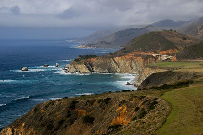 Iconic view of Big Sur Coastline.
