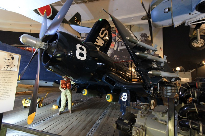 America's fastest Navy fighter in WWII, an F4U Corsair.