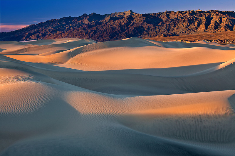 California, Death Valley National Park, Mesquite Dunes, Sunset, Landscape, 加利福尼亚, 日落, 死亡谷国家公园,  风景