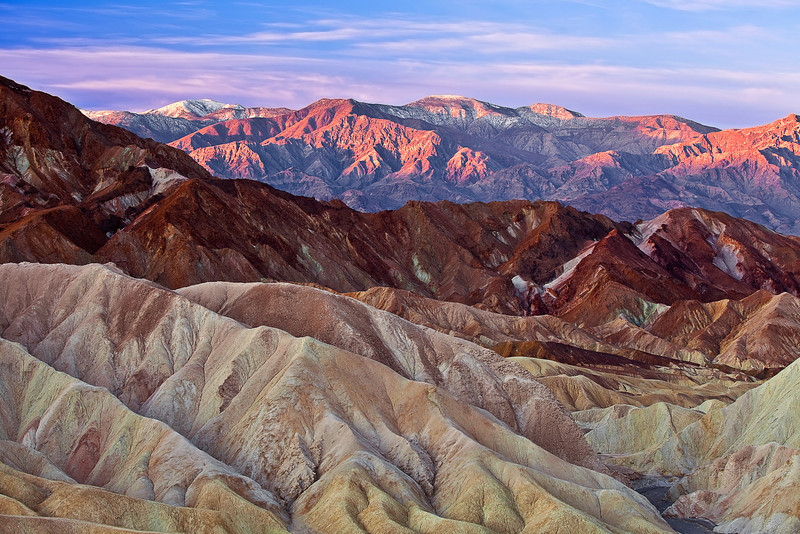 California, Death Valley National Park,  Zabriskie Point, Sunrise, Landscape, 加利福尼亚, 死亡谷国家公园, 黎明, 风景