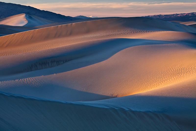 California, Death Valley National Park, Mesquite Dunes, Sunset, Landscape, 加利福尼亚, 日落, 死亡谷国家公园,  风景