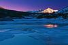 California, Eastern Sierra, Tioga Lake, Sunset, 加利福尼亚; 优胜美地国家公园, 日落