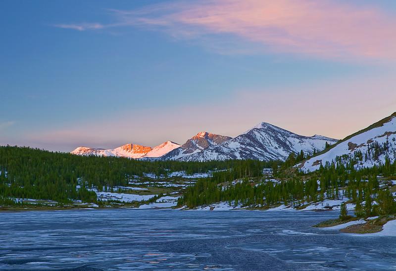California, Eastern Sierra, Tioga Lake, Sunrise, 加利福尼亚; 优胜美地国家公园, 日出