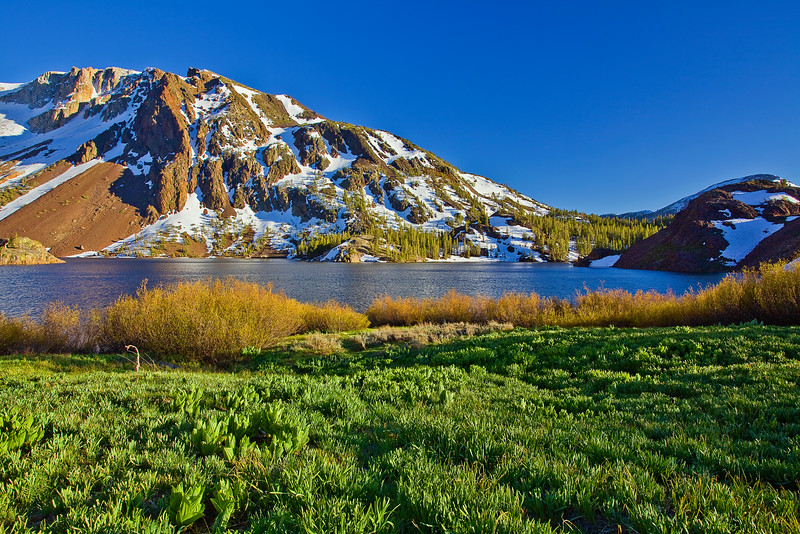 California, Eastern Sierra, Ellery Lake, Sunser, 加利福尼亚; 优胜美地国家公园