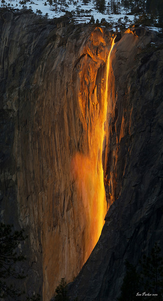 """Yosemite Firefall""; Horsetail falls, Yosemite National Park"