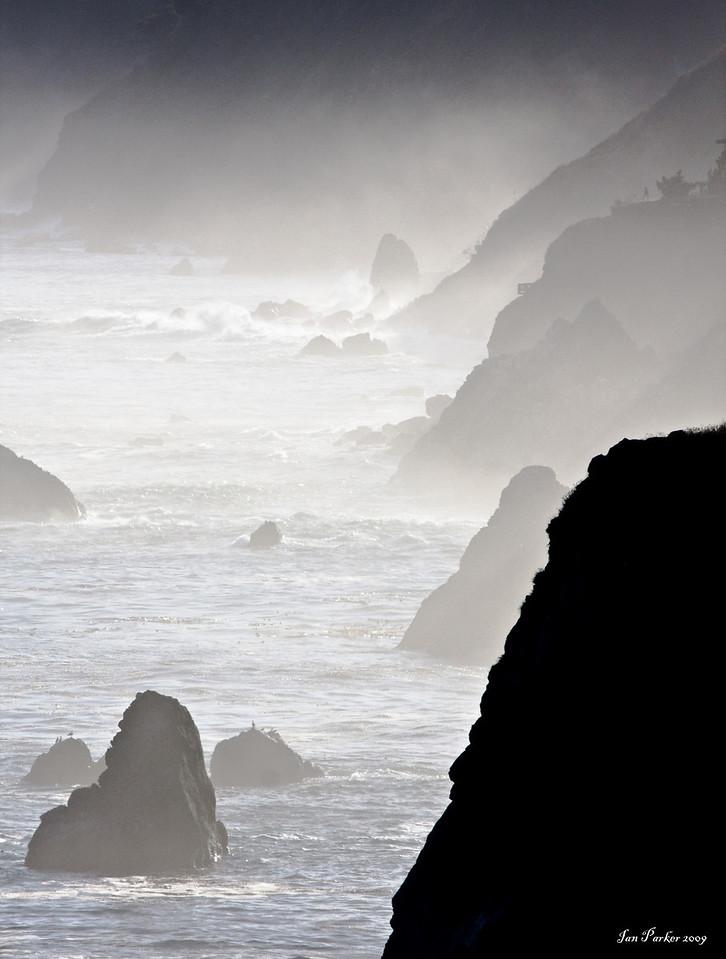 Endless ridges; Big Sur coastline