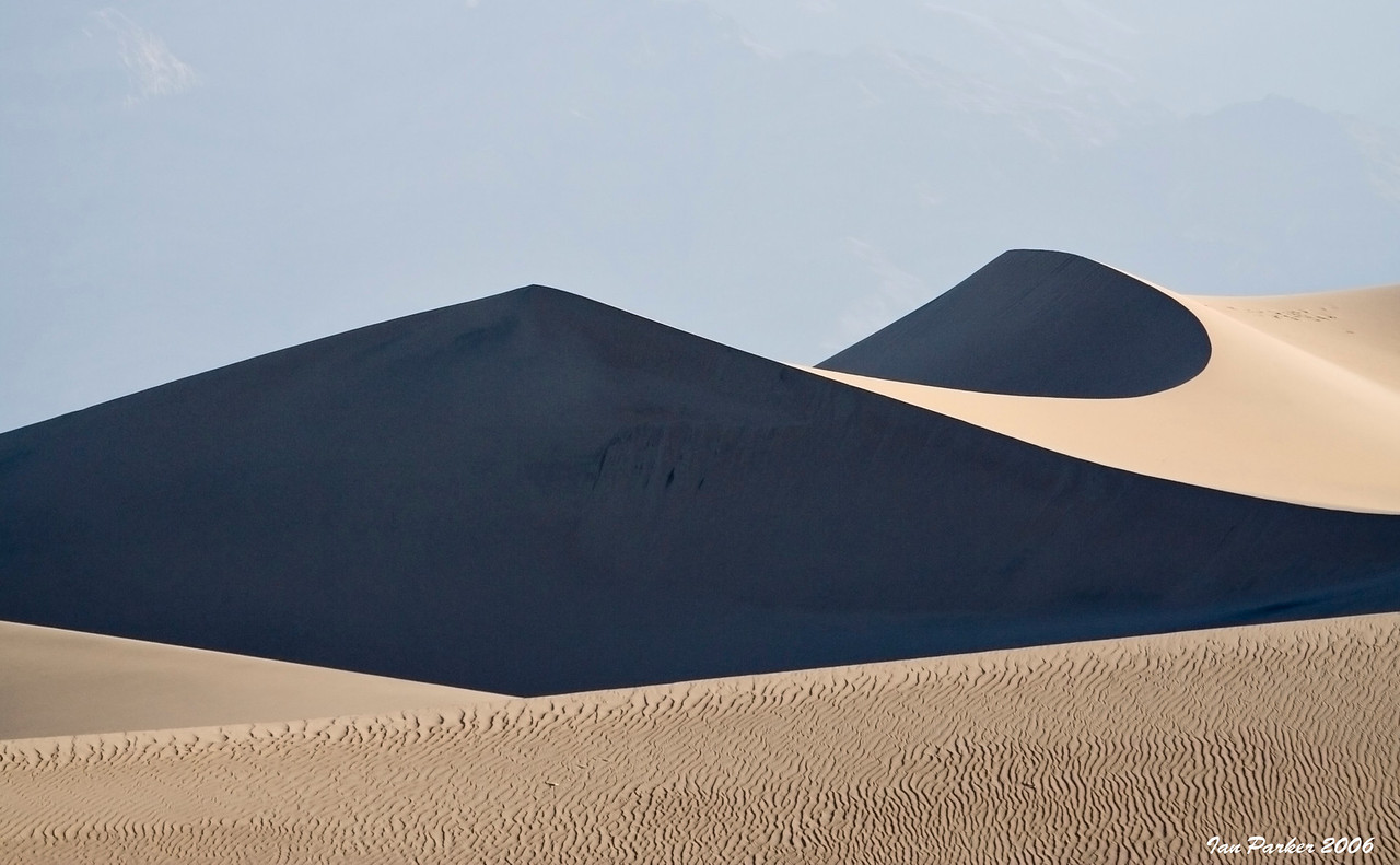 Sand dunes abstract; Death Valley