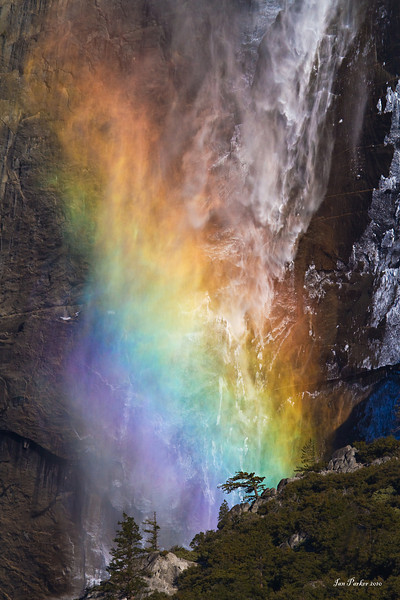 Upper Yosemite Falls rainbow; Yosemite National Park