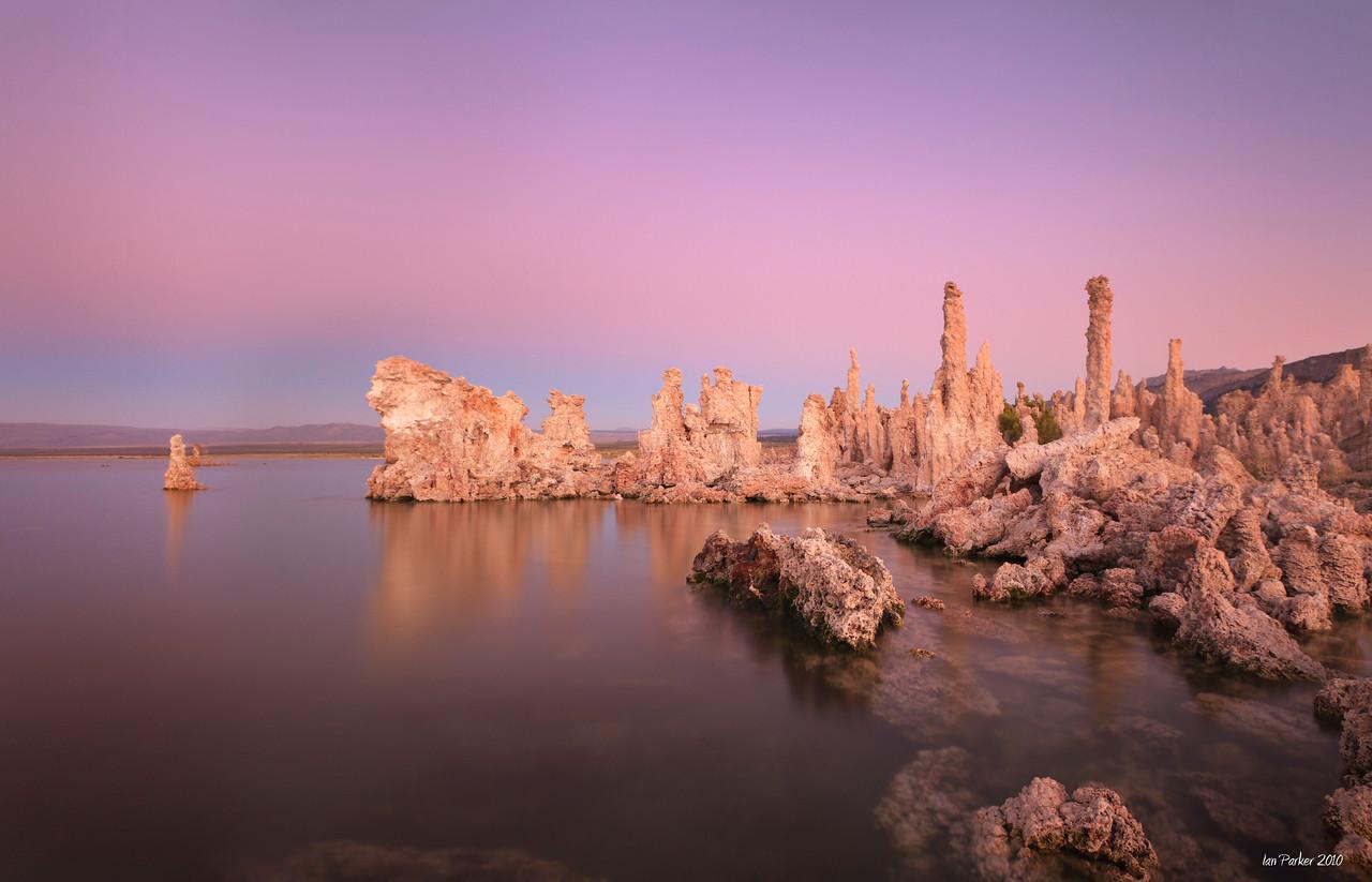 Tufa twilight; Mono Lake
