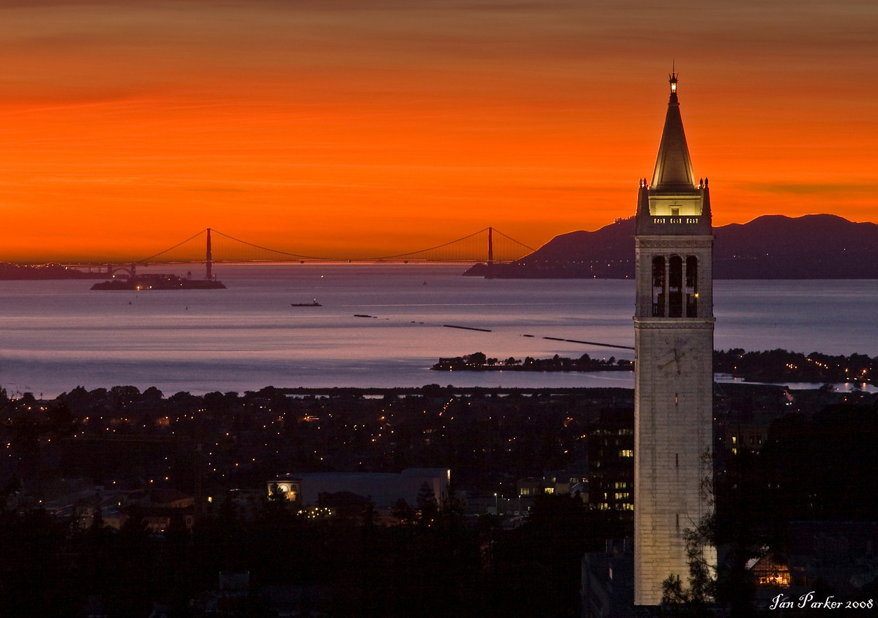 UC Berkeley Campanille and Golden Gate
