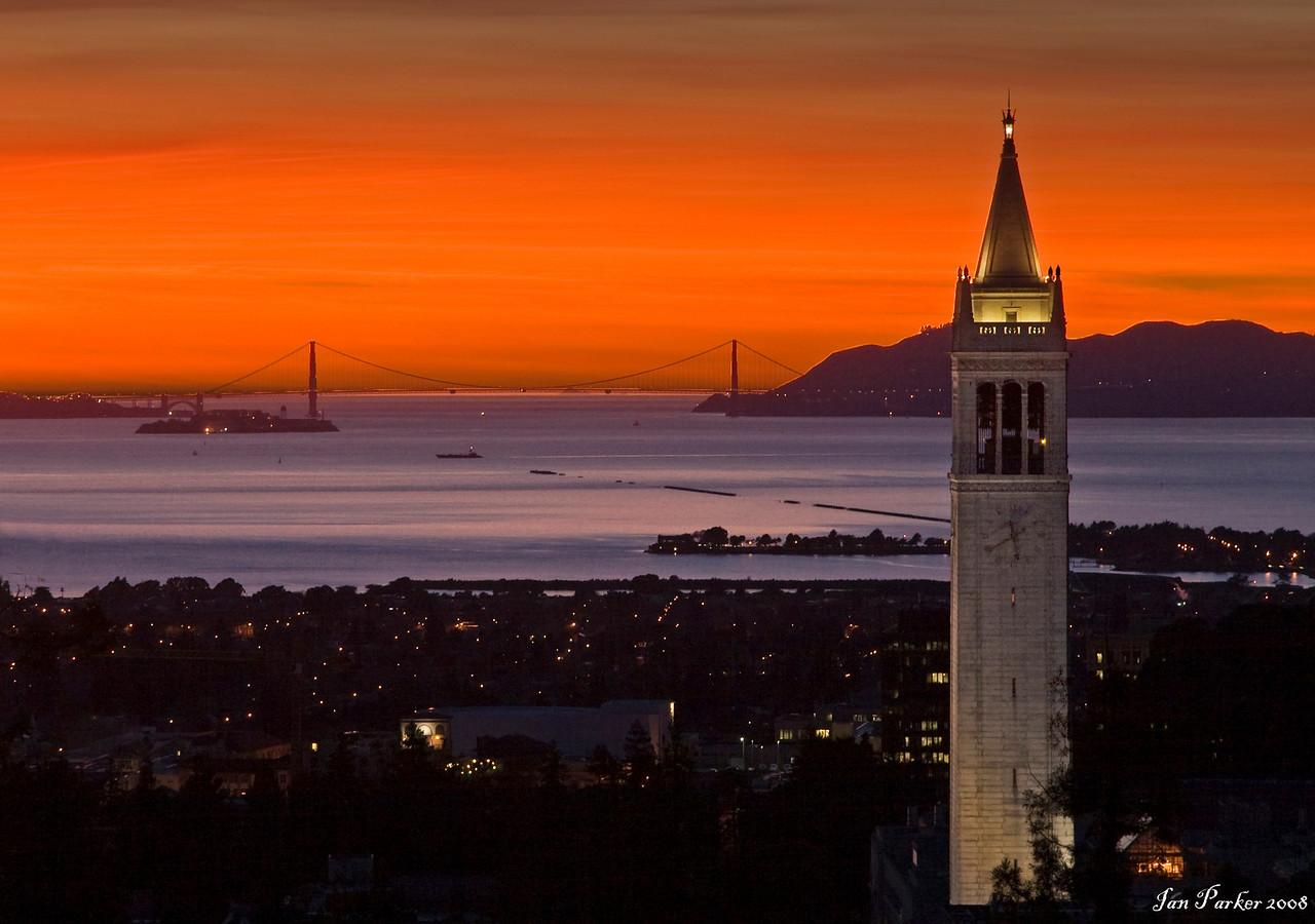 UC Berkeley Campanille and Golden Gate
