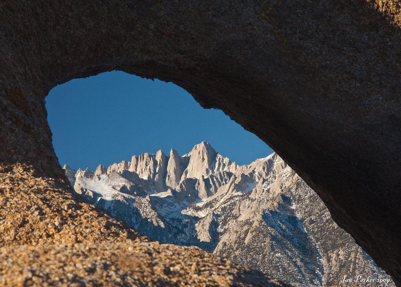 Mt. Whitney through Alabama Arch