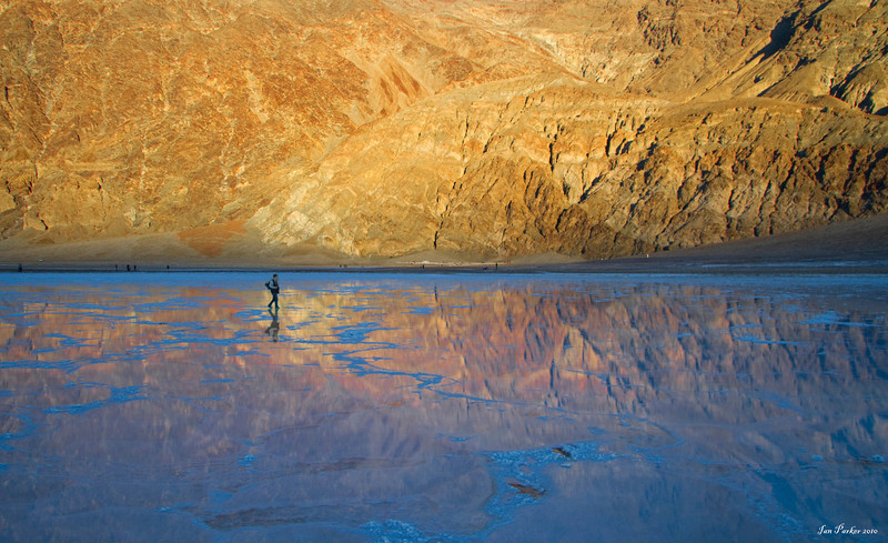 Badwater reflections: Death Valley