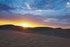 Sun Setting On The Dunes