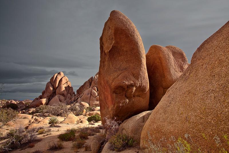 California, Joshua Tree National Park, Jumbo Rocks, Landscape, 加利福尼亚, 约束亚树国家公园, 风景