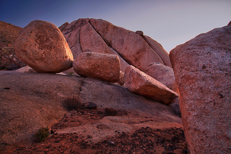 California, Joshua Tree National Park, Evening Twilight, Rocks, Landscape, HDR, 加利福尼亚, 约束亚树国家公园, 黄昏,高动态范围拍摄, 风景