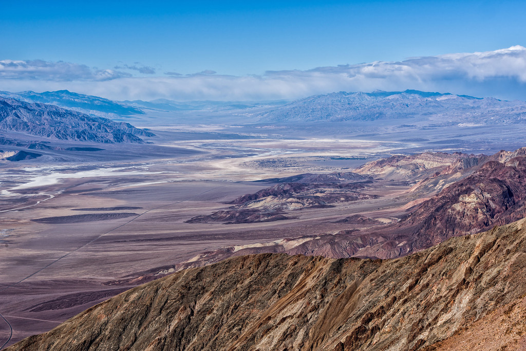 Looking North up Death Valley from Dantes View