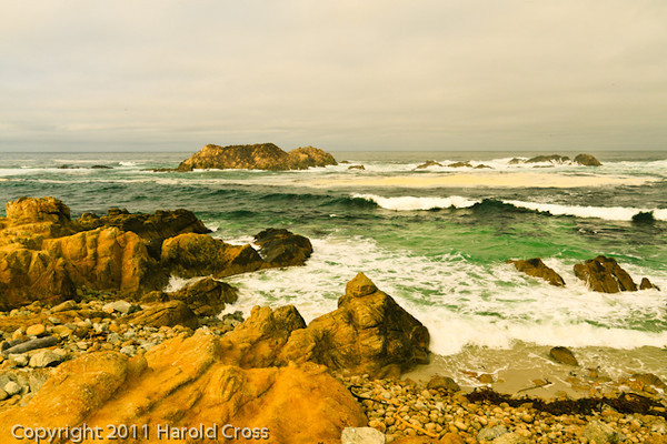 A landscape taken Sep. 29, 2011 near Pebble Beach, CA.
