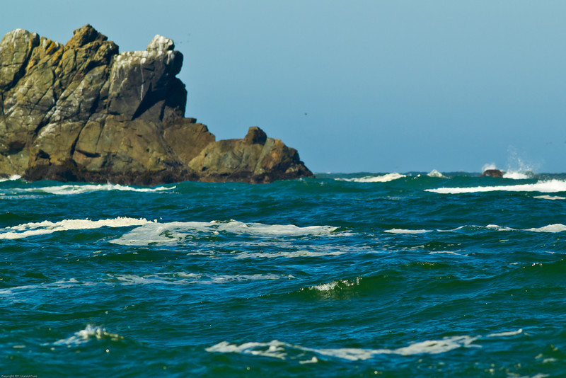 A seascape taken June 15, 2011 near Trinidad, CA.