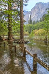 Merced River Flood with Yosemite Falls
