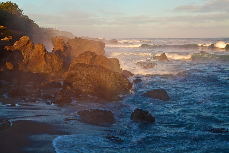 California, Northern Coastline, MacKerricher State Park, Sunrise Landscape 加利福尼亚 海滩 风景
