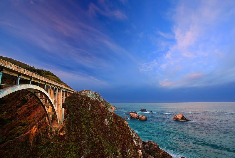 California, Big Sur Coastline, Sunrise Landscape 加利福尼亚 风景