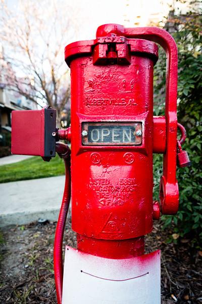 Fire hydrant on Fairbanks Circle.