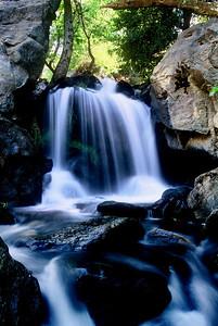 Bouquette Falls  Angeles National Forest Near Santa Clarita, California  Velvia 35mm Film